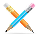 Two vector pencil Stock Photo