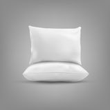 Two vector pillow on a gray background Royalty Free Stock Images