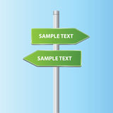 Two vector road arrow signs Royalty Free Stock Photos