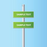 Two vector road plates (signs) Royalty Free Stock Images