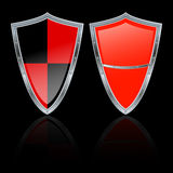 Two vector shields Stock Photo