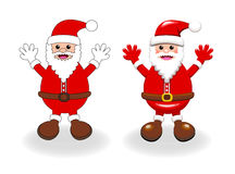 Two vector styles of Santa clause Royalty Free Stock Image