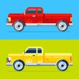 Two vector trucks Royalty Free Stock Photo