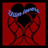 Two vector twisted loving stripes of film with heart Royalty Free Stock Photography