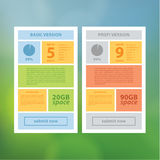 Two vector ui template. Clean modern design template with space. For your content. Product offer or information schedule Royalty Free Stock Image