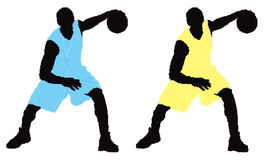 Two vectro basket players Royalty Free Stock Image
