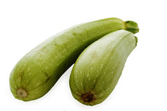 Two vegetable marrow. On white background Royalty Free Stock Photos