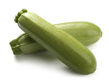 Two vegetable marrows Stock Photo