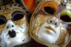 Two venetian masks Royalty Free Stock Image