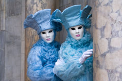 Two Venetian Masks. Stock Photo