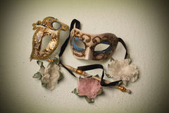 Two Venetian masks Royalty Free Stock Photography