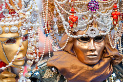 Two Venice Masks, Carnival. Royalty Free Stock Image