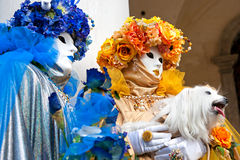 Two Venice Masks, Carnival. Stock Photography