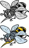 Illustrated bee Royalty Free Stock Image