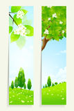 Two Vertical Banners with Nature Royalty Free Stock Photography