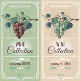 Two Vertical Banners With Wine Labels Royalty Free Stock Images