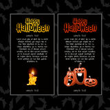 Two vertical cards for Halloween Stock Photography