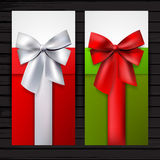 Two vertical gift banners Stock Image