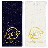 Two vertical ticket for new year special party Royalty Free Stock Photos