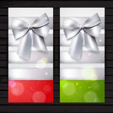 Two vertical winter banners Stock Photography