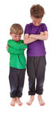 Two very angry boys Royalty Free Stock Photo