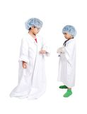 Two very cute children in white  clothes Royalty Free Stock Photos
