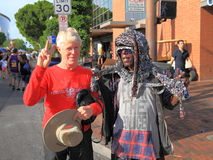 USA, ArizonaTempe: Festival Entertainer and Visitor - Peace! Royalty Free Stock Photos