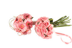 Two very pink bouquets Royalty Free Stock Photo