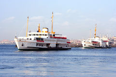 Two vessels in Bosporus Stock Photography