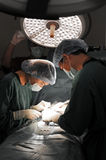 Two veterinarian surgeons in operating room Royalty Free Stock Photo