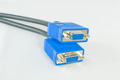 Two VGA signal cables Stock Photos