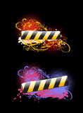 Two Vibrant Glow Color Banners Stock Images