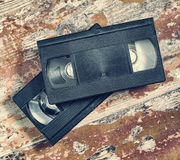 Two video cassette close-up Royalty Free Stock Photo