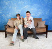 Two Video Game Players Royalty Free Stock Photos