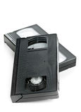 Two video home system movie cassettes Royalty Free Stock Image