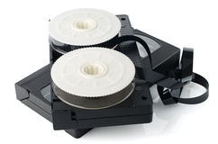 Two videotapes and reel Royalty Free Stock Photography