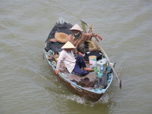 Two Vietnamese Fishermen Royalty Free Stock Photo