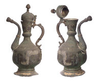 Two views of antique pitcher Royalty Free Stock Image
