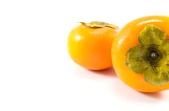 Two Views of Persimmon. Two persimmon viewed from two different angles Stock Photography