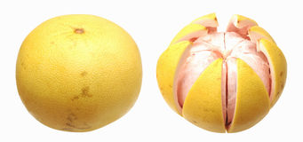 Two views of pomelo Stock Photography