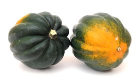 Two views of pumpkin Royalty Free Stock Photography