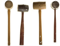 Two views, two mallets. Two views of two mallets Royalty Free Stock Photo