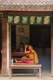 Two village women of Chitwan, Nepal Royalty Free Stock Image