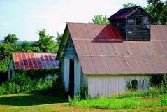 Two Vintage Barns Stock Photos