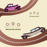 Two vintage cars Royalty Free Stock Images