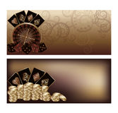 Two vintage casino banners Stock Images