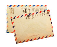 Two vintage envelope back sides Stock Photo