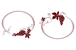Two vintage frame with a grapes Royalty Free Stock Photo