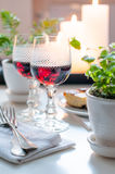 Two vintage glasses of red wine Royalty Free Stock Photos