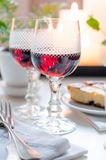 Two vintage glasses of red wine Royalty Free Stock Photography